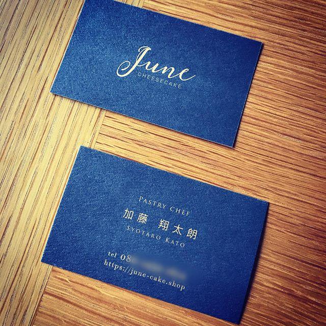 【大阪】チーズケーキ専門店の名刺兼ショップカード