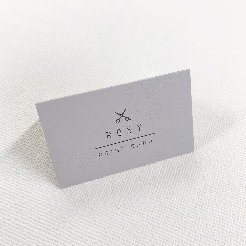 長久手の美容院、ロージーさんのポイントカードを作らせて頂きました♪シンプルでオシャレに(^^)#ポイントカード #長久手美容室 #スタンプカード #二つ折りカード #シンプルデザイン #長久手美容院