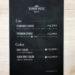 理容室のメニュー表